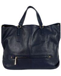 Halston Convertible Hobo Pebble Handbag - Lyst