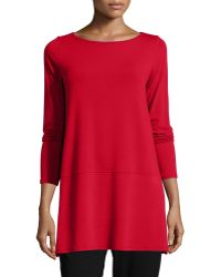 Eileen Fisher   Long-sleeve Jersey Top   Lyst