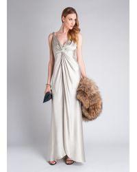 Amanda Wakeley Rai Twist Front Silk Gown - Lyst
