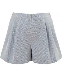 3.1 Phillip Lim Shorts With Exposed Front Metal Zipper blue - Lyst
