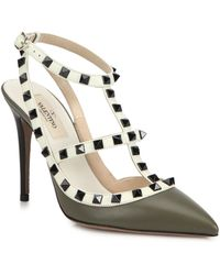 Valentino Rockstud Ankle-Strap Pumps - Lyst