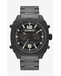 Express Analog And Digital Bracelet Watch - Black - Lyst