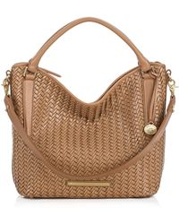 Brahmin Norah Leather Lattice Shoulder Bag - Lyst