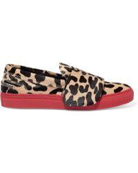 Giambattista Valli - Leopard-print Calf Hair Trainers - Lyst