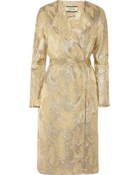 By Malene Birger Antea Metallic Jacquard Coat - Lyst
