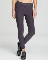Phat Buddha Jane Glitter Capri Leggings - Grey
