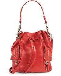 She + Lo - Let It Ride Leather Drawstring Crossbody Bag - Lyst