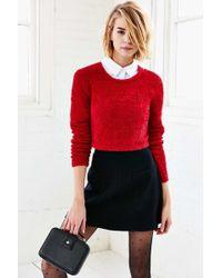 Olive & Oak - Fuzzy Cropped Sweater - Lyst
