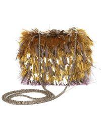 Rochas Fringe Embroidered Small Handbag - Lyst