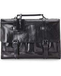 Kenneth Cole - Kenneth Cole Black Flap On The Wrist Briefcase - Lyst