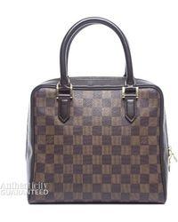Louis Vuitton Preowned Damier Ebene Brera Bag - Lyst