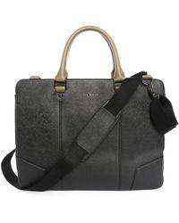 Ted Baker Black Leather Office Bag - Lyst