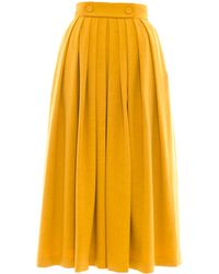 Victor Xenia London - Olia Skirt Mustard - Lyst