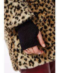 Missguided Rohini Fingerless Gloves Black
