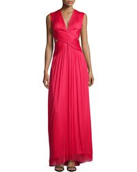 Catherine Deane Sylver Crisscross Cutout Gown - Lyst