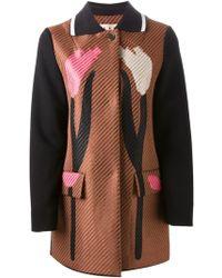 Marni Tulip Print Coat - Lyst