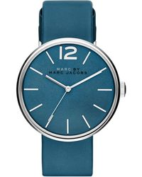 Marc By Marc Jacobs Peggy Stainless Steel & Leather Strap Watch/Blue blue - Lyst