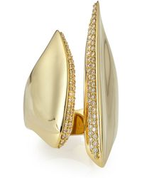 Alexis Bittar Fine - 18k Gold Sculptural Cleaved Ring With Diamonds - Lyst
