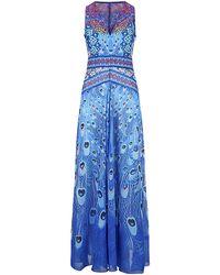 Gottex Exotic Peacock Maxi Dress - Lyst