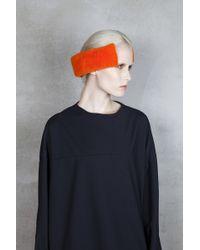Onar | Cleo Orange Merino Shearling Earmuffs | Lyst
