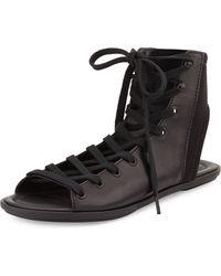 Atelje71 - Fidelio Leather Lace-Up Sandal - Lyst