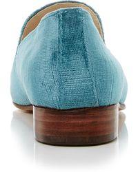 Brock Collection 1994 Velvet Loafer - Blue
