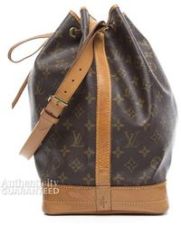 Louis Vuitton Monogram Canvas Noe Bag - Lyst