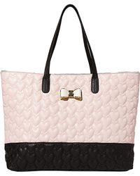 Betsey Johnson Be My Bow Heart-Quilted Tote - Lyst