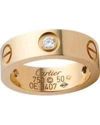 Cartier Love 18Ct Yellow-Gold And Diamond Ring - Lyst