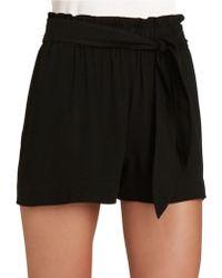 BCBGeneration High-Waisted Shorts - Black