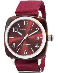 Briston - Burgundy Acetate Clubmaster Hms Sunray Dial Watch - Lyst