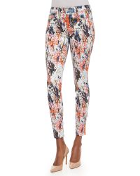 7 For All Mankind The Ankle Skinny Jeans - Lyst
