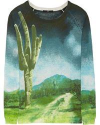 Tibi Printed Cotton Sweater - Lyst