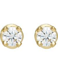 Hoorsenbuhs - White Diamond Studs Size Os - Lyst