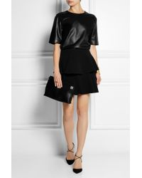 Emanuel Ungaro Leather and Polkadot Tulle Top - Lyst