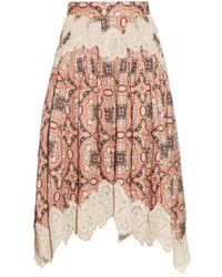Zimmermann   Empire Konya-print Linen Skirt   Lyst