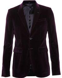 Burberry Prorsum Velvet Jacket - Lyst