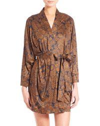 Hanro | Mona Lisa Kimono Short Robe | Lyst