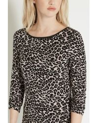 Oasis Leopard Print Top - Multicolour