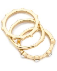 Sam Edelman - 3 Stack Midi Ring Set - Lyst