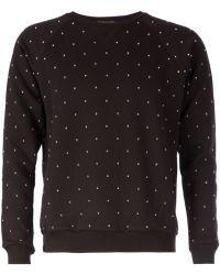 Saint Laurent Studded Sweatshirt - Lyst