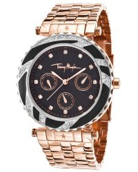 Thierry Mugler Women'S Rose-Tone Stainless Steel Black Dial - Lyst