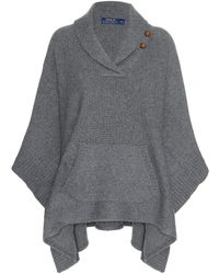 Ralph Lauren Wool and Cashmereblend Poncho - Lyst