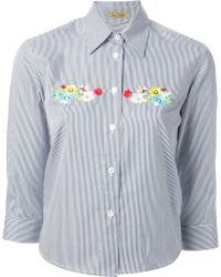 Peter Jensen Embroidered Shirt - Lyst