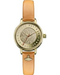 Vivienne Westwood Vv114gdtn Time Machine Gold-toned and Leather Watch - Lyst