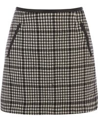 Oasis Mini Checked Marley Skirt - Lyst