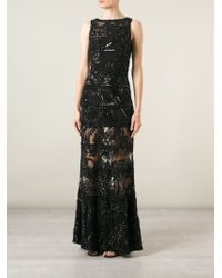 Elie Saab Beaded Embellished Sheer Gown - Lyst