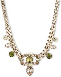 Givenchy Gold Tone and Multi Color Crystal Necklace - Lyst