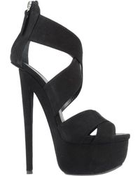 Giuseppe Zanotti Black Sandals - Lyst