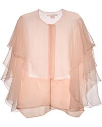 Antonio Berardi Organza Ruffled Cape Top - Lyst